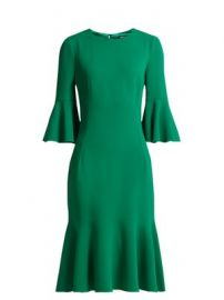 Fluted-hem cady midi-dress at Matches