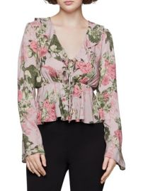 Flutter Floral Printed Top at Lord & Taylor