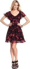 Flutter sleeve dress by Betsey Johnson at Macys