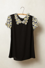 Fluttered Daisy Blouse at Anthropologie