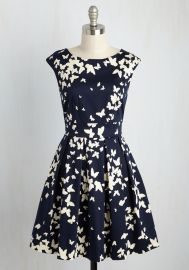 Fluttering Romance Dress in Butterfly Silhouettes at ModCloth