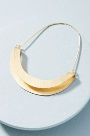 Folded Crescent Demi-Hoop Earrings at Anthropologie
