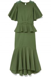 Follow The Drums Embellished Peplum Midi Dress by Johanna Ortiz at The Outnet