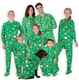 Footed Pajamas - Family Matching Green Christmas Onesies for Boys  Girls  Men  Women and Pets at Amazon