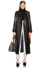 For FWRD Leather Trench Coat by Frame at Forward