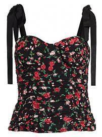 For Love  amp  Lemons - Tainted Floral Bustier Top at Saks Fifth Avenue