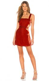 For Love  amp  Lemons Kate Overall Dress in Rust from Revolve com at Revolve