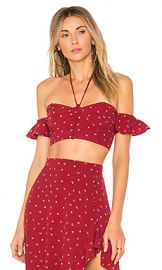 For Love  amp  Lemons La Lana Crop Top in Burgundy from Revolve com at Revolve