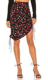 For Love  amp  Lemons Molly Drawstring Skirt in Rose from Revolve com at Revolve