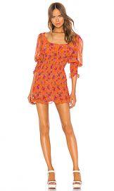 For Love  amp  Lemons Peony Mini Dress in Tangerine from Revolve com at Revolve