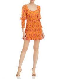 For Love  amp  Lemons Peony Smocked Mini Dress Women - Bloomingdale s at Bloomingdales