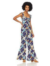 For Love  amp  Lemons Women s Magnolia Ruffled Jumpsuit at Amazon