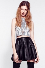 For Love and Lemons Anna Crop Top at The Trend Boutique