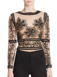 For Love and Lemons Desert Nights Embroidered Cropped Top at Saks Fifth Avenue