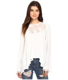 For Love and Lemons Ellery Blouse white at 6pm