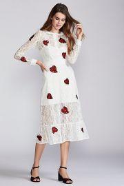 For Love and Lemons La Zosia Midi Dress at Free People