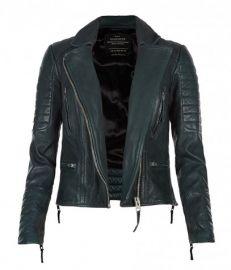 Forest Leather Biker Jacket at All Saints