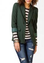 Forest green blazer at Forever 21 at Forever 21