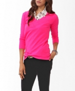 Forever 21 Pink sweater at Forever 21