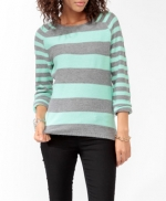 Forever 21 mint striped sweater at Forever 21