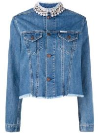 Forte Dei Marmi Couture Embellished Collar Denim Jacket - Farfetch at Farfetch