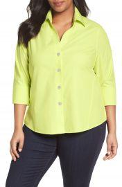 Foxcroft  Paige  Non-Iron Cotton Shirt  Plus Size at Nordstrom