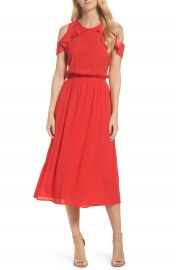 Fraiche by J Cold Shoulder Midi Dress at Nordstrom