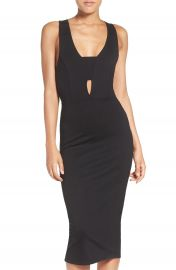 Fraiche by J Cutout Body-Con Midi Dress at Nordstrom