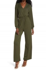 Fraiche by J Long Sleeve Wide Leg Jumpsuit   Nordstrom at Nordstrom