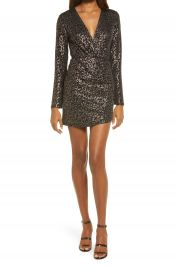 Fraiche by J Sima Faux Wrap Animal Print Minidress   Nordstrom at Nordstrom