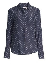 Frame - Clean Polka Dot Blouse at Saks Fifth Avenue