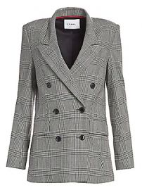 Frame - Double Breasted Houndstooth Plaid Blazer at Saks Fifth Avenue
