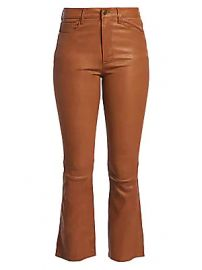 Frame - Leather Kick Flare Pants at Saks Fifth Avenue