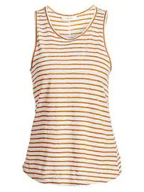 Frame - Linen Striped Tank Top at Saks Fifth Avenue