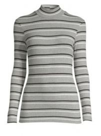 Frame - Stripe Turtleneck at Saks Fifth Avenue