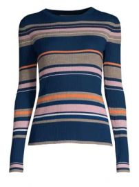 Frame - Striped Long-Sleeve Sweater at Saks Fifth Avenue