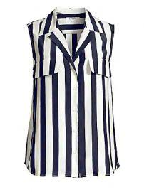 Frame - True Sleeveless Stripe Silk Shirt at Saks Fifth Avenue