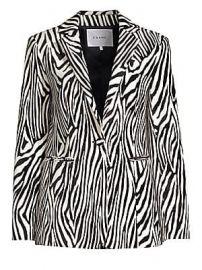 Frame - Zebra Blazer at Saks Fifth Avenue