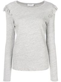 Frame Denim Ruffled Detail T-shirt at Farfetch