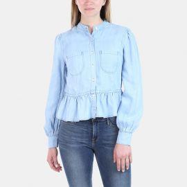 Frame Double pocket denim blouse at Elevtd