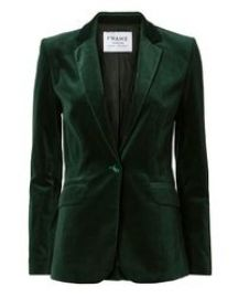 Frame Green Le Velvet Blazer at Intermix