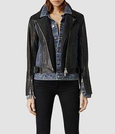 Frame Leather Biker Jacket at All Saints