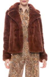 Frame Wide Collar Faux Fur Jacket at Ron Herman