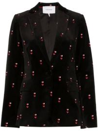 Frame heart-embroidered Velvet Blazer - Farfetch at Farfetch