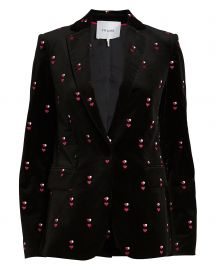 Frame velvet jacket at Intermix