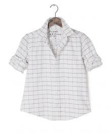 Frank & Eileen Barry Italian Flannel Windowpane Shirt at Ron Herman