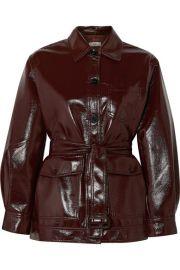 Frankie Shop - Ilenia belted vinyl jacket at Net A Porter