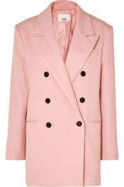 Frankie Shop - Julie double-breasted gabardine blazer at Net A Porter