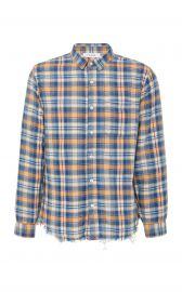 Frayed-Hem Plaid Cotton Button-Up Shirt at Moda Operandi