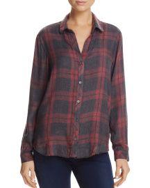 Frayed-Hem Side-Button Shirt at Blooomingdales